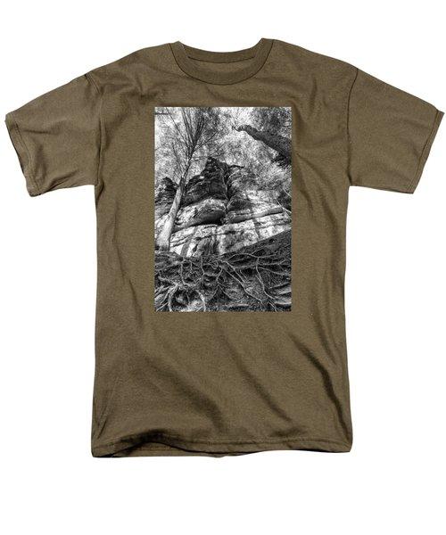 Men's T-Shirt  (Regular Fit) featuring the photograph Rocky Roots by Alan Raasch