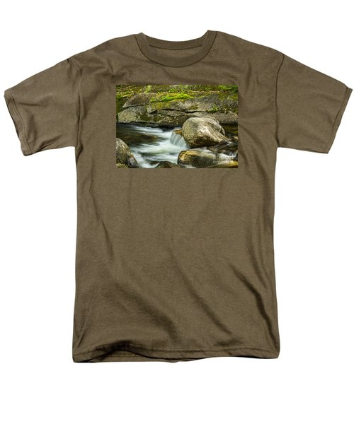 Men's T-Shirt  (Regular Fit) featuring the photograph Rocky Stream by Alana Ranney