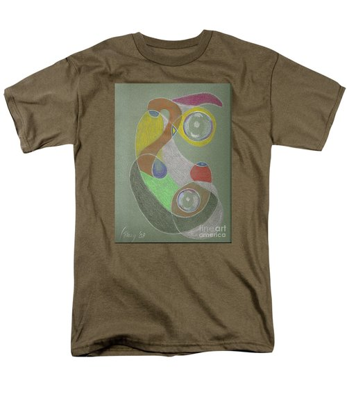 Men's T-Shirt  (Regular Fit) featuring the drawing Roley Poley Vertical by Rod Ismay