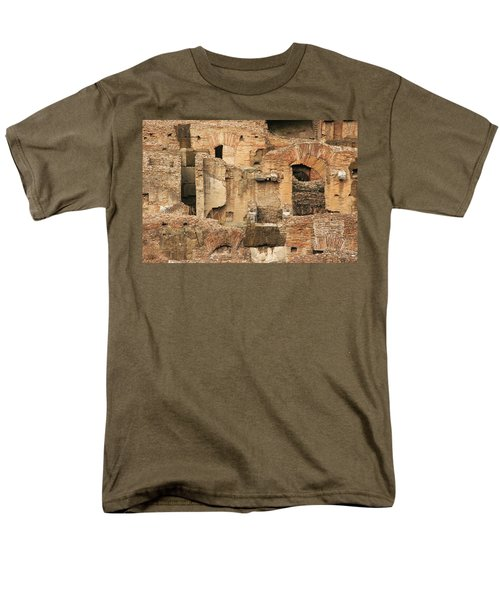 Men's T-Shirt  (Regular Fit) featuring the photograph Roman Colosseum by Silvia Bruno
