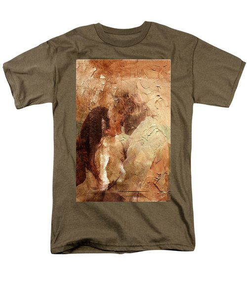 Men's T-Shirt  (Regular Fit) featuring the digital art Romantic Kiss by Andrea Barbieri