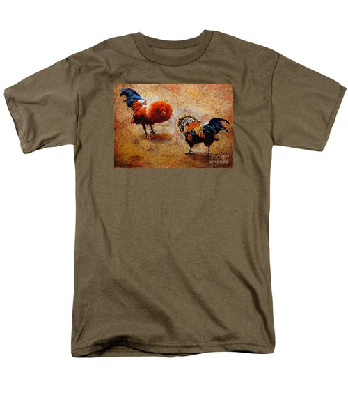 Roosters  Scene Men's T-Shirt  (Regular Fit)