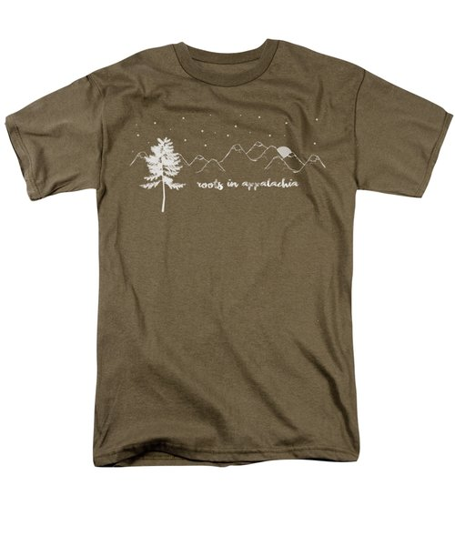 Men's T-Shirt  (Regular Fit) featuring the digital art Roots In Appalachia by Heather Applegate