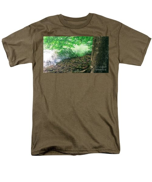 Roots On The River Men's T-Shirt  (Regular Fit) by Rachel Hannah