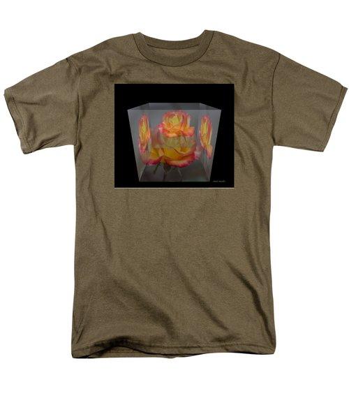 Men's T-Shirt  (Regular Fit) featuring the photograph Rose Block by Debra     Vatalaro