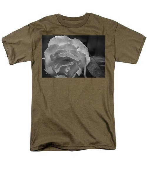 Rose In Black And White Men's T-Shirt  (Regular Fit) by Kelly Hazel