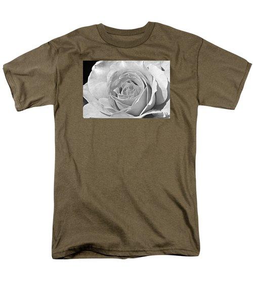 Rose In Black And White Men's T-Shirt  (Regular Fit)