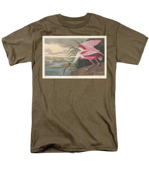 Roseate Spoonbill, 1836  Men's T-Shirt  (Regular Fit) by John James Audubon
