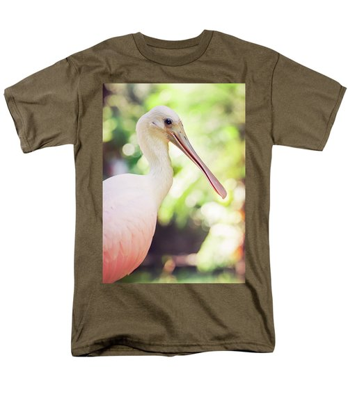 Roseate Spoonbill Men's T-Shirt  (Regular Fit) by Heather Applegate