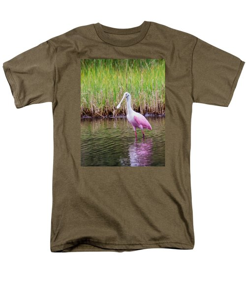 Men's T-Shirt  (Regular Fit) featuring the photograph Roseate Spoonbill  by Patricia Schaefer