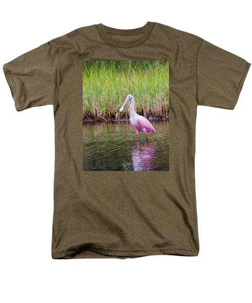 Roseate Spoonbill  Men's T-Shirt  (Regular Fit) by Patricia Schaefer