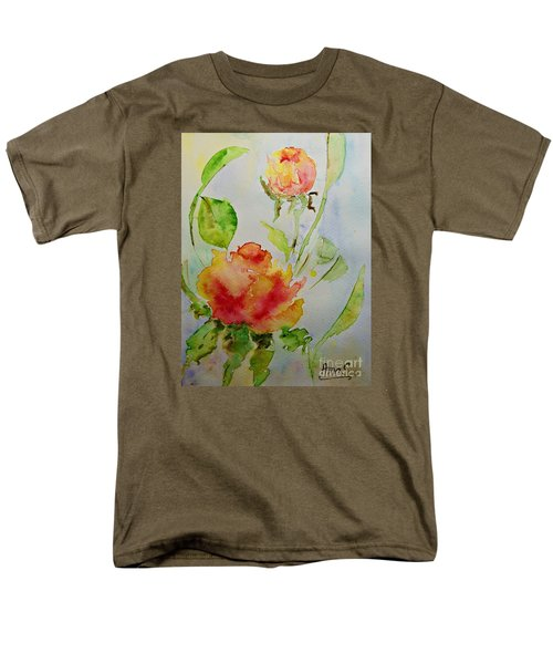 Men's T-Shirt  (Regular Fit) featuring the painting Roses  by AmaS Art