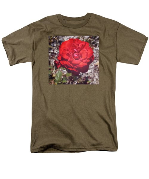 Men's T-Shirt  (Regular Fit) featuring the photograph Roses Are Red by Cassandra Buckley