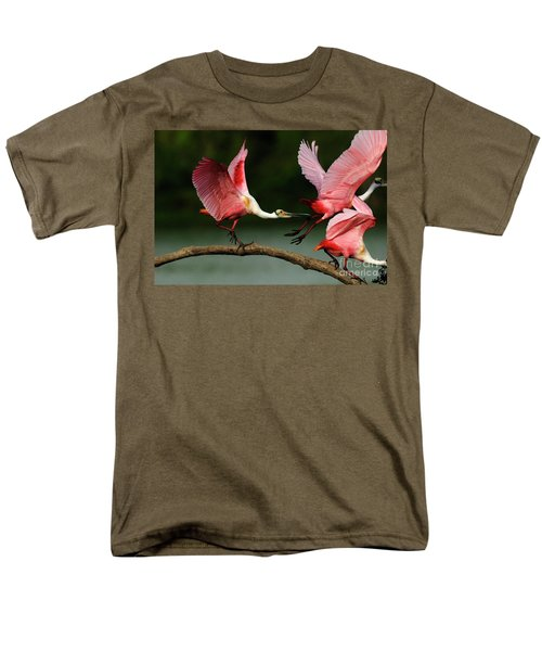 Rosiette Spoonbills Lord Of The Branch Men's T-Shirt  (Regular Fit) by Bob Christopher