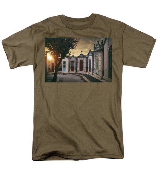 Men's T-Shirt  (Regular Fit) featuring the photograph Row Of Crypts by Carlos Caetano
