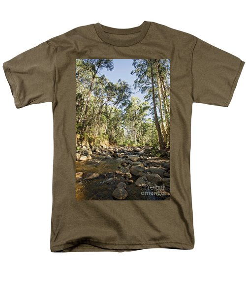 Men's T-Shirt  (Regular Fit) featuring the photograph Rubicon River by Linda Lees