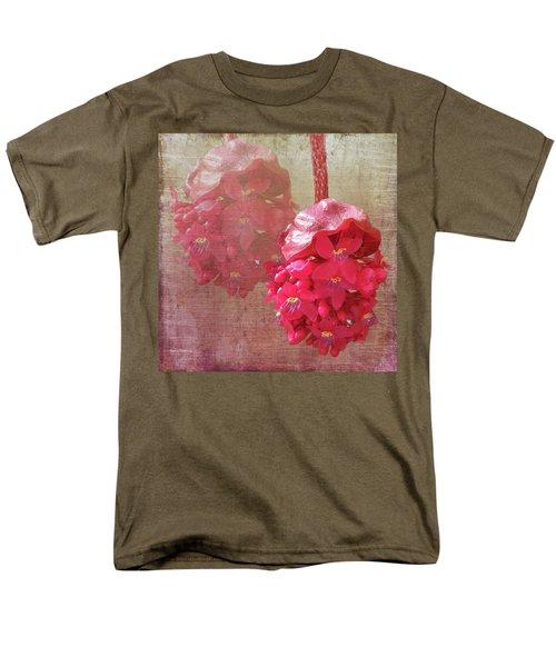 Ruby Colored Orchid Men's T-Shirt  (Regular Fit) by Rosalie Scanlon