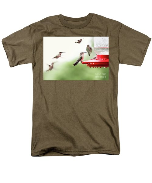 Men's T-Shirt  (Regular Fit) featuring the photograph Ruby-throated Hummingbirds by Stephanie Frey