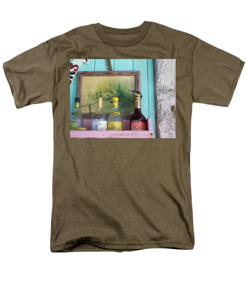 Men's T-Shirt  (Regular Fit) featuring the photograph Rum Shack Bananaquit by Mary-Lee Sanders