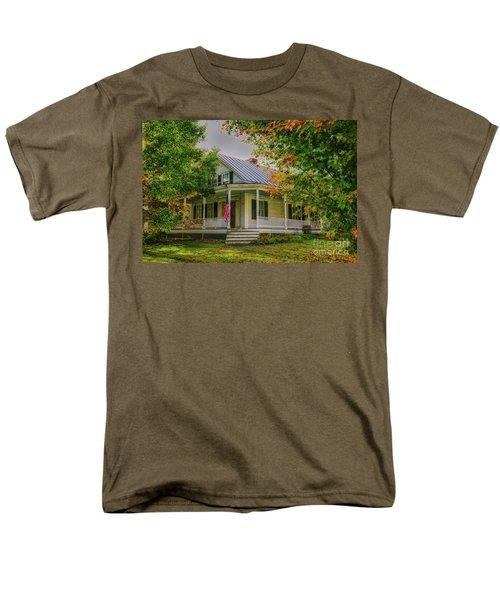 Men's T-Shirt  (Regular Fit) featuring the photograph Rural Vermont Farm House by Deborah Benoit