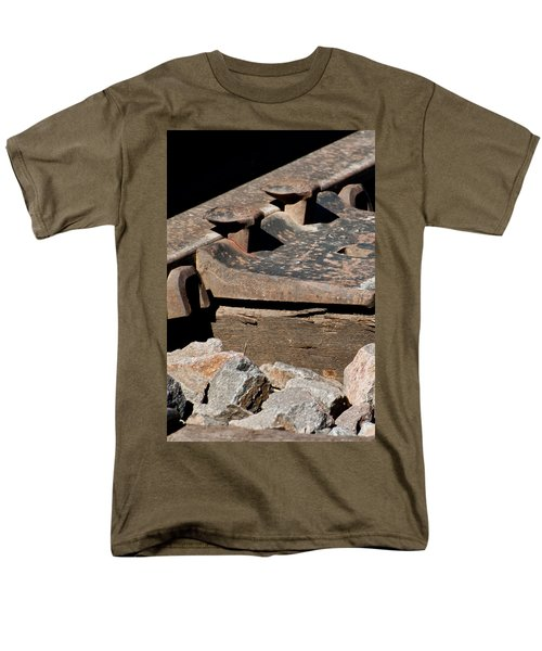 Men's T-Shirt  (Regular Fit) featuring the photograph Rusted Rail by Colleen Coccia