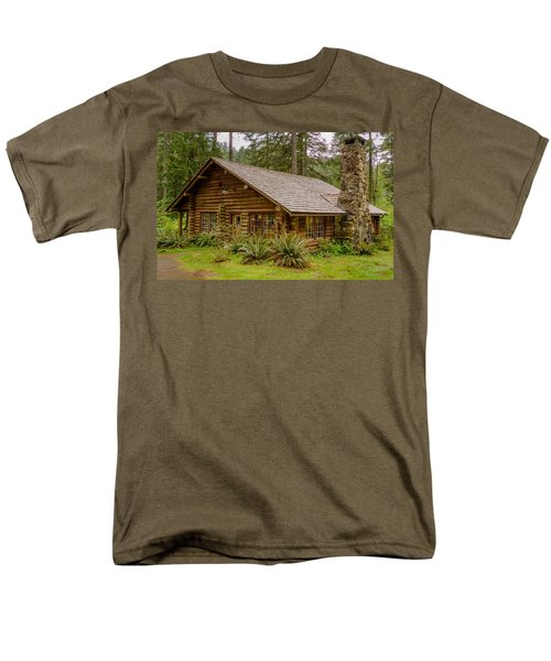 Men's T-Shirt  (Regular Fit) featuring the photograph Rustic Cabin by Jerry Cahill