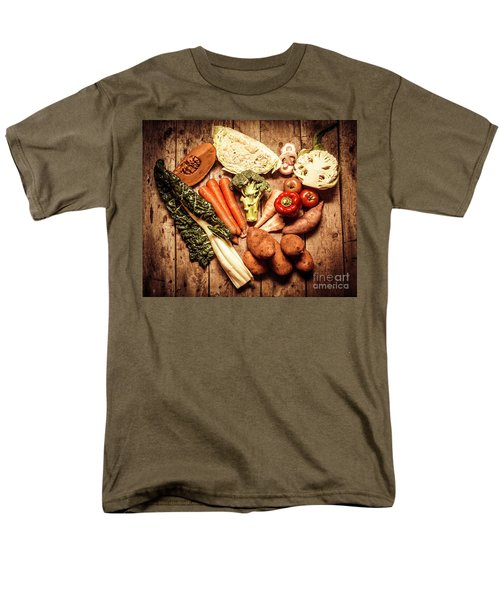 Rustic Style Country Vegetables Men's T-Shirt  (Regular Fit) by Jorgo Photography - Wall Art Gallery