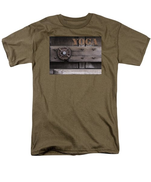 Men's T-Shirt  (Regular Fit) featuring the photograph Rustic Yoga by Kandy Hurley