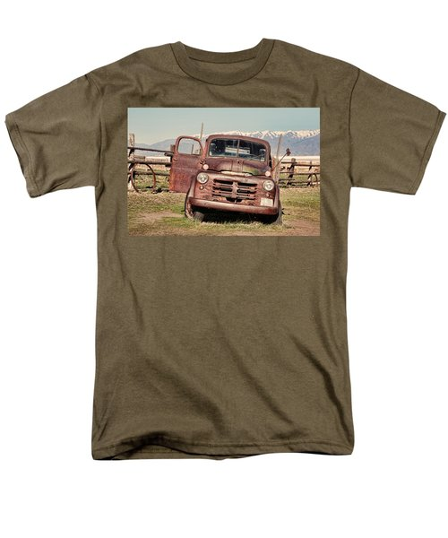 Men's T-Shirt  (Regular Fit) featuring the photograph Rusty Old Dodge by Ely Arsha