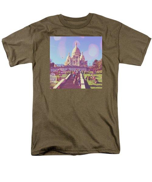 Sacre-coeur In Summer Men's T-Shirt  (Regular Fit) by Aurella FollowMyFrench