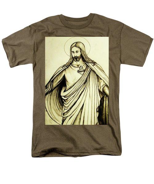 Sacred Heart Men's T-Shirt  (Regular Fit) by Mary Ellen Frazee