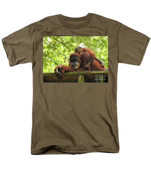 Men's T-Shirt  (Regular Fit) featuring the photograph Safe With Mom by Lisa L Silva