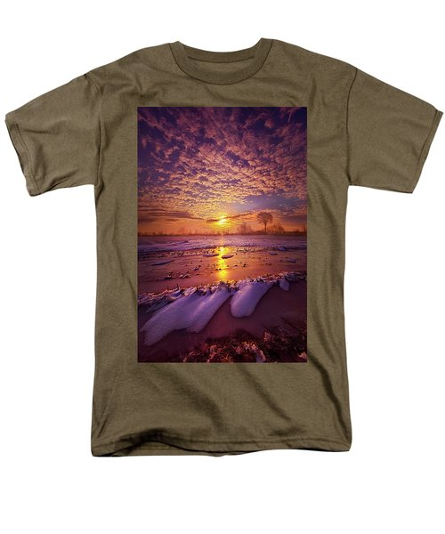 Men's T-Shirt  (Regular Fit) featuring the photograph Safely Secluded In A Far Away Land by Phil Koch