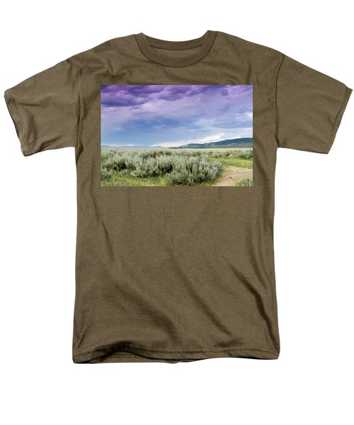 Men's T-Shirt  (Regular Fit) featuring the photograph Sage Fields  by Dawn Romine