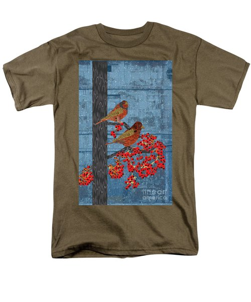 Men's T-Shirt  (Regular Fit) featuring the digital art Sagebrush Sparrow Long by Kim Prowse
