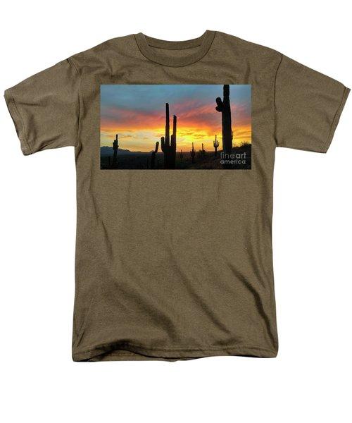 Saguaro Sunset Men's T-Shirt  (Regular Fit) by Anthony Citro