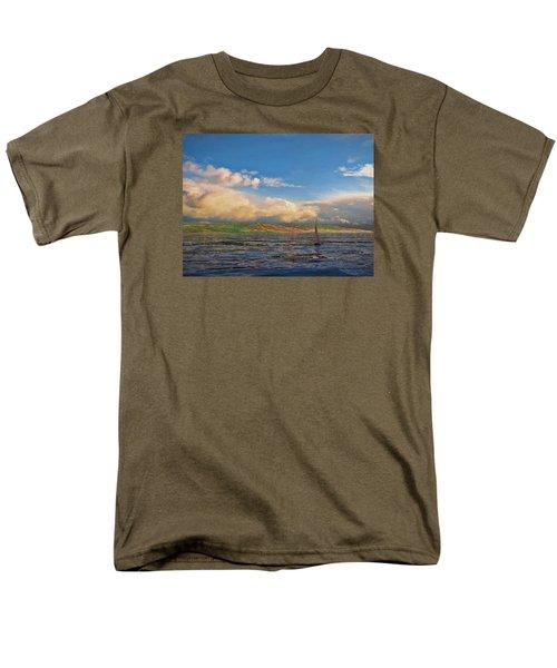 Sailing On Galilee Men's T-Shirt  (Regular Fit) by Dave Luebbert