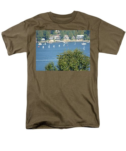Men's T-Shirt  (Regular Fit) featuring the painting Sailing by Rod Jellison
