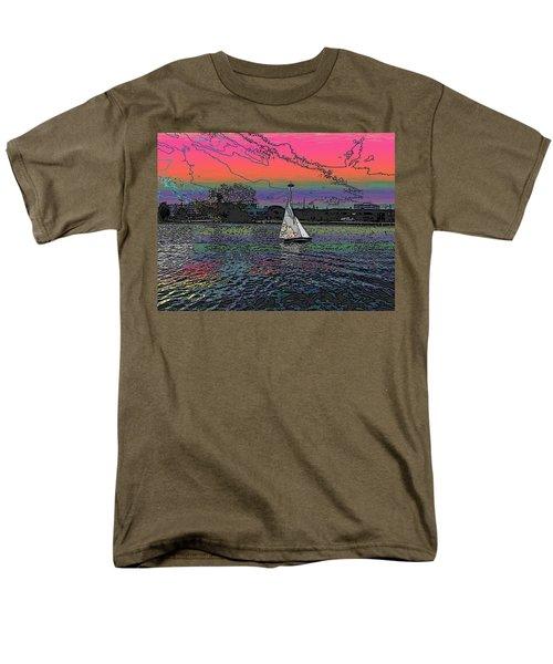 Sailing South Lake Union Men's T-Shirt  (Regular Fit) by Tim Allen