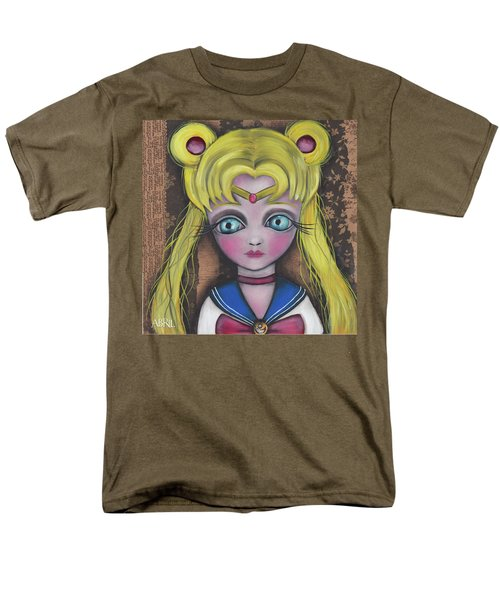 Sailor Moon Men's T-Shirt  (Regular Fit) by Abril Andrade Griffith