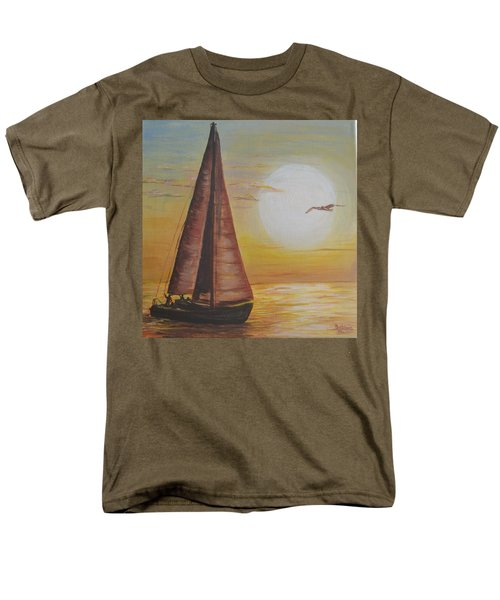Sails In The Sunset Men's T-Shirt  (Regular Fit) by Debbie Baker