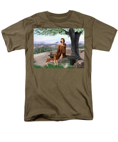 Men's T-Shirt  (Regular Fit) featuring the painting Saint Francis by Susan Kinney
