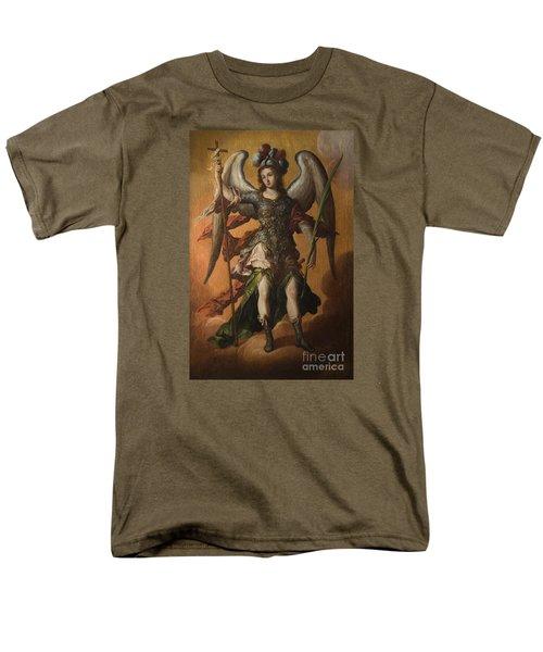 Saint Michael The Archangel Men's T-Shirt  (Regular Fit) by Celestial Images