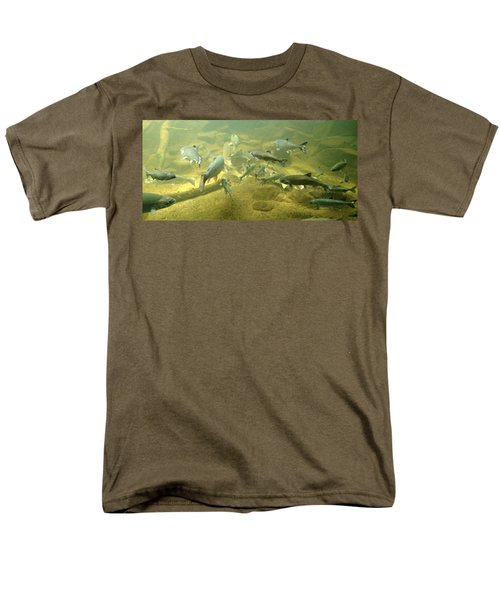 Men's T-Shirt  (Regular Fit) featuring the photograph Salmon And Sturgeon by Katie Wing Vigil