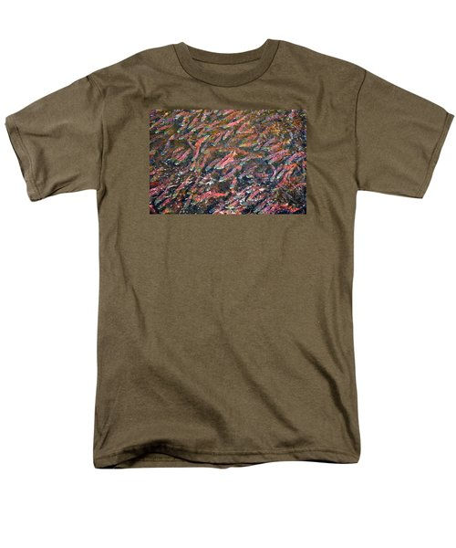 Salmon So Thick You Can Walk On Them Men's T-Shirt  (Regular Fit) by Mary Lee Dereske