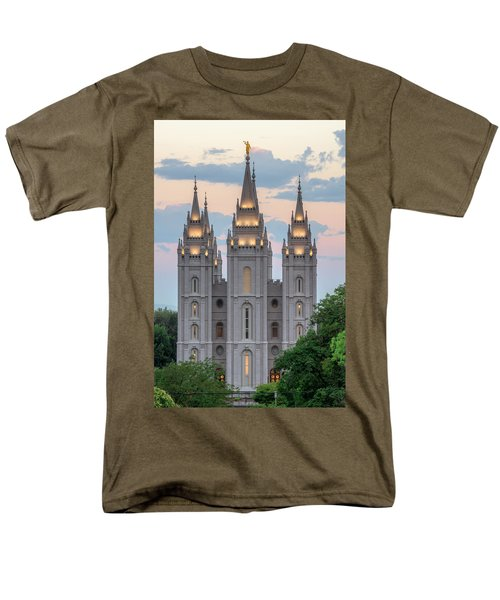 Salt Lake City Temple Morning Men's T-Shirt  (Regular Fit) by Dustin  LeFevre