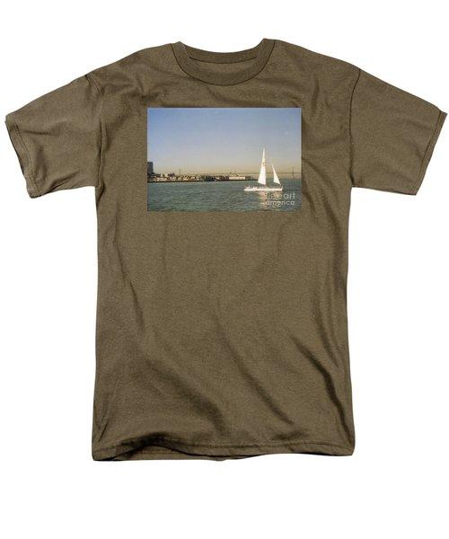 San Francisco Bay Sail Boat Men's T-Shirt  (Regular Fit) by Ted Pollard
