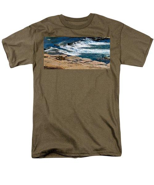 San Marcos River Waterfall  Men's T-Shirt  (Regular Fit) by Ray Shrewsberry