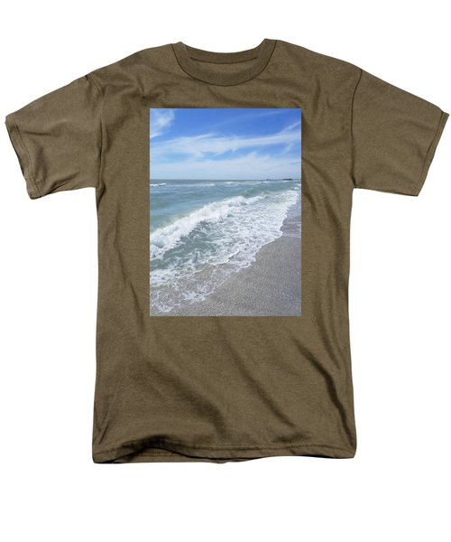 Men's T-Shirt  (Regular Fit) featuring the photograph Sand, Sea, Sun, No.2 by Ginny Schmidt