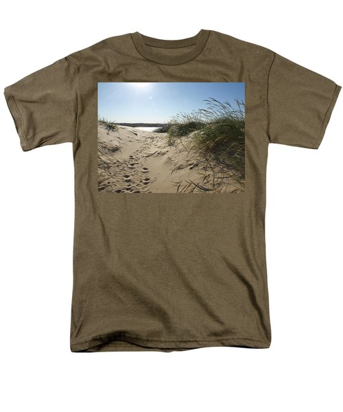 Sand Tracks Men's T-Shirt  (Regular Fit) by Tara Lynn